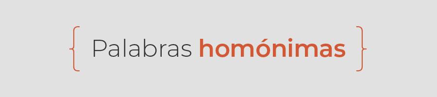 palabras homonimas