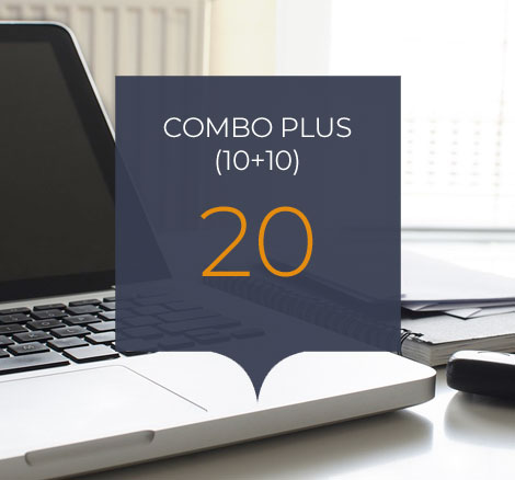 Combo plus 20 clases