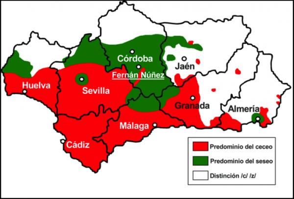Seseo y ceceo en Andalucía
