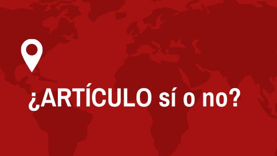 Artículo en nombres de países en español sí o no